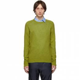 Prada Green Raglan Crewneck Sweater 192962M20101005GB