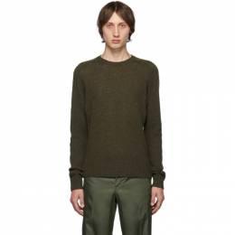 Prada Green Shetland Crewneck Sweater 192962M20101101GB