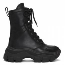 Prada Black Leather Mid-Calf Boots 1U730L F075 3B4Z