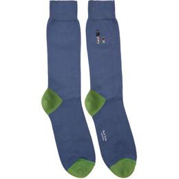 Paul Smith Blue London Parks Socks 192260M22004501GB