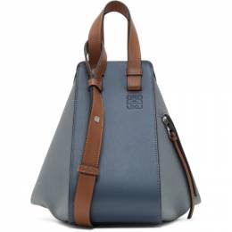 Loewe Blue and Tan Small Hammock Bag 192677F04805601GB