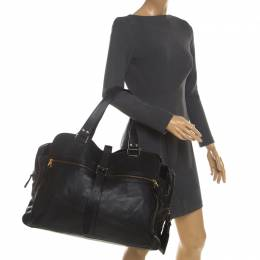 Mulberry Black Leather Travel Bag 208283