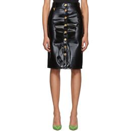 Versace Black Vinyl Skirt 192404F09200103GB