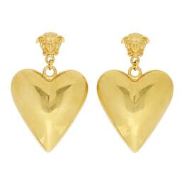 Versace Gold Medusa Heart Pendant Earrings 192404F02201501GB