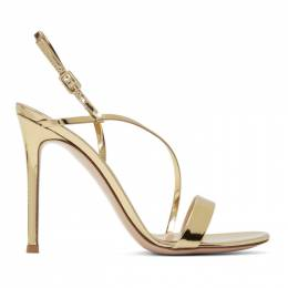 Gianvito Rossi Gold Manhattan Sandals 192090F12500207GB