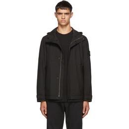 Stone Island Black Hooded Jacket 192828M18001701GB