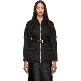 Prada Black Belted Military Jacket 29F674 I18