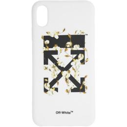 Off-White White Cotton Arrows iPhone XS Max Case OWPA010R19294043