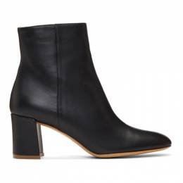 Mansur Gavriel Black Leather 65 Ankle Boots 192662F11300104GB