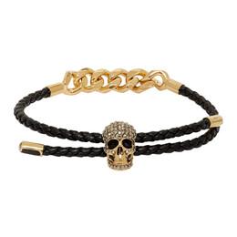 Alexander McQueen Gold Skull Chain Bracelet 192259F02000401GB