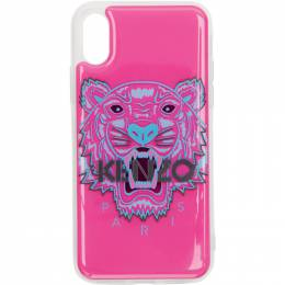 Kenzo Pink and Blue 3D Tiger Head iPhone X/Xs Case F96COKIFXTGR