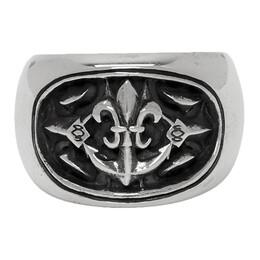 Yohji Yamamoto Silver Anchor Ring 192573M14700402GB