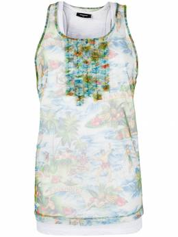 Dsquared2 tulle-layered tank top S72FZ0054STJ234