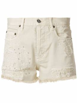 Faith Connexion джинсовые шорты с рваными деталями X5586D00606