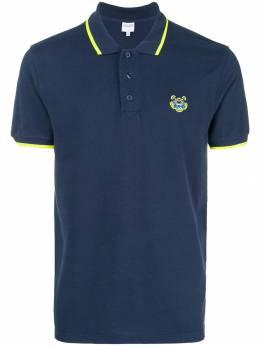 Kenzo рубашка-поло с заплаткой с тигром F005PO0014BA