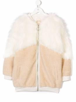 Andorine oversized zipped faux fur coat ADW1816B