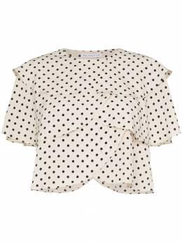 Rejina Pyo блузка в горох с фестонами C205