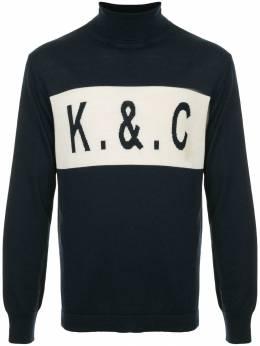 Kent & Curwen свитер с высоким воротом и логотипом K3867ER320