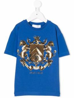 Roberto Cavalli Junior футболка с принтом 'Сoat of arms' HJT657JV025