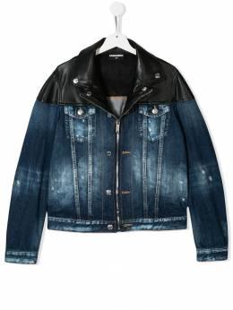 Dsquared2 Kids джинсовая куртка с контрастными вставками DQ03BAD00U1