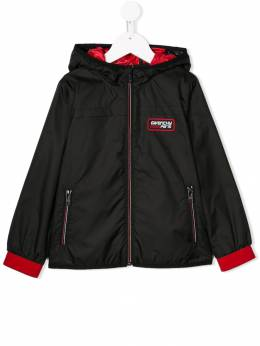 Givenchy Kids куртка-бомбер с капюшоном H2603209B