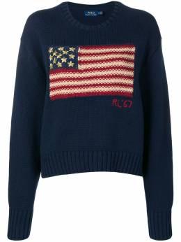 Polo Ralph Lauren мешковатый трикотажный свитер с изображением флага 211733164