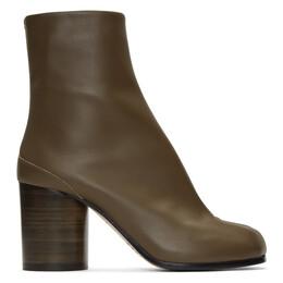 Maison Margiela Green Tabi Boots 192168F11303009GB