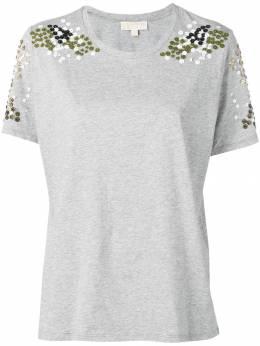 MICHAEL Michael Kors футболка с цветочной аппликацией MS95M3M97J