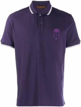 Corneliani рубашка-поло с вышитым логотипом 83G5729125050