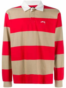 Stussy рубашка-поло в полоску 1140120