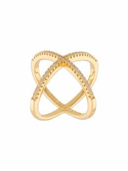Nialaya Jewelry кольцо с перекрещивающимися ободами WRING018