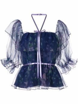 Marchesa Notte блузка с цветочным принтом N32T0958