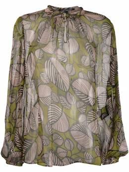 Luisa Cerano полупрозрачная блузка с принтом 2080852334