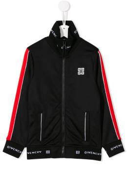 Givenchy Kids куртка с контрастным логотипом H2512109B