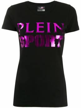 Plein Sport футболка с логотипом металлик F19CWTK1385STE003N