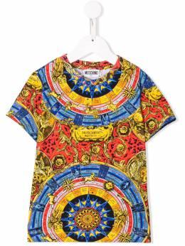 Moschino Kids футболка с принтом HXM024LBB21