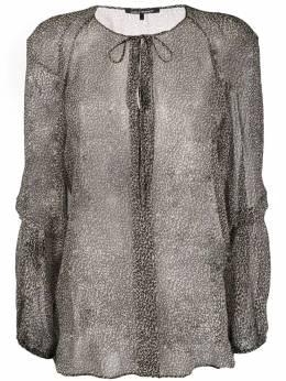 Luisa Cerano полупрозрачная блузка с леопардовым принтом 2080922344