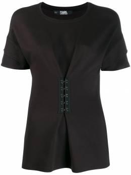 Karl Lagerfeld футболка с баской и крючками 96KW1700999