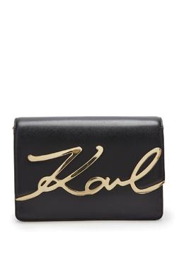 Сумка с фигурным клапаном и логотипом Karl Lagerfeld 682142129