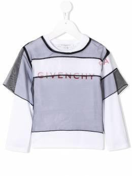 Givenchy Kids ярусная сетчатая футболка H18006M41