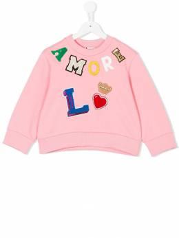 Dolce & Gabbana Kids толстовка с заплаткой 'Amore' L5JWQ4G7NDA