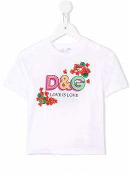Dolce & Gabbana Kids футболка Love Is Love L5JTBEG7TRL