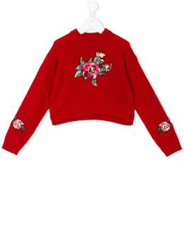 Dolce & Gabbana Kids свитер с вышивкой L55K22LK5V0