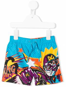 Dolce & Gabbana Kids плавки-шорты с принтом L1J818G7SPN