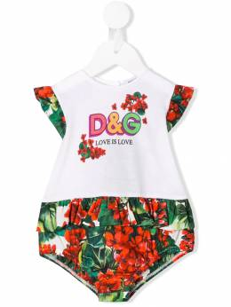 Dolce & Gabbana Kids боди Love Is Love L2JON3G7TRM