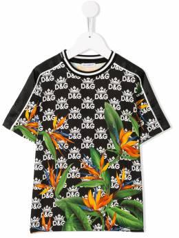 Dolce & Gabbana Kids футболка DG King L4JT7HG7SQQ