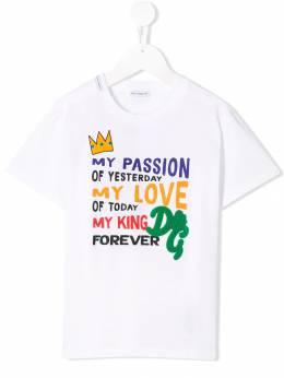 Dolce & Gabbana Kids футболка My Passion L4JT7NG7SVP