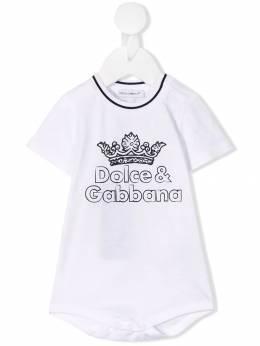 Dolce & Gabbana Kids боди с логотипом L1JO9IG7STG