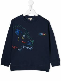 Kenzo Kids толстовка Tiger and Friends KP1566804