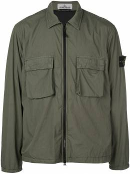 Stone Island куртка-рубашка на молнии MO711510904
